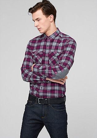 Regular: Hemd mit Ellbogen-Patches