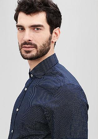 Regular: Hemd mit feinem Muster