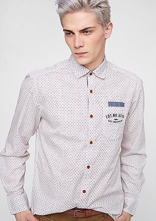 Regular: Hemd mit Minimal-Muster