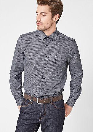 Regular: Hemd mit Muster-Print