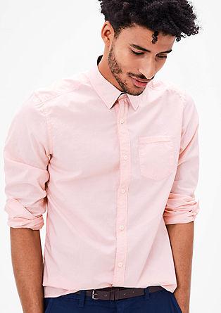 Regular: Hemd mit Nadelstreifen