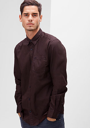 Regular: Hemd mit Wabenmuster