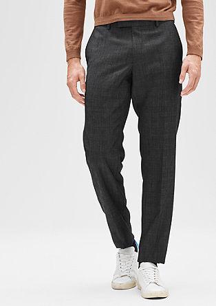 Regular: hlače glencheck