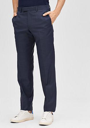 Regular: hlače za obleko s strižno volno