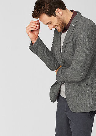 Regular: jacket with a woven texture from s.Oliver