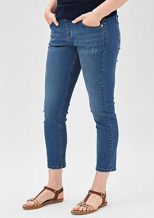 Regular: jeans hlače dolžine 7/8 z raztrganinami