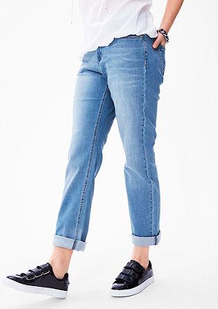 Regular: jeans met rechte pijpen