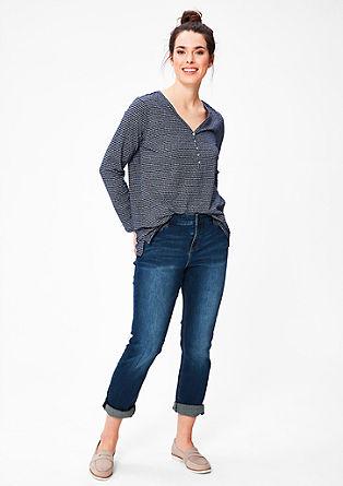 Regular: jeans met smalle pijpen
