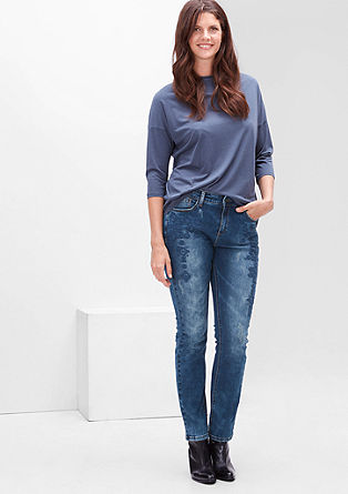 Regular: jeans with embroidery from s.Oliver