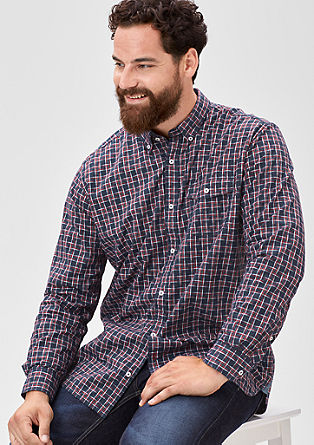 Regular: Kariertes Button-Down-Hemd