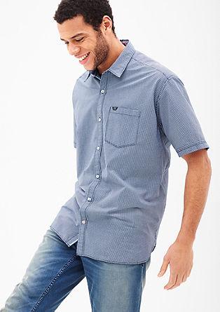 Regular: Kariertes Kurzarmhemd