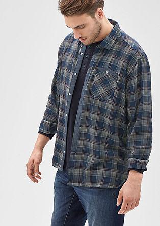 Regular: Karirasta srajca, barvana s hladnim postopkom pigmentiranja