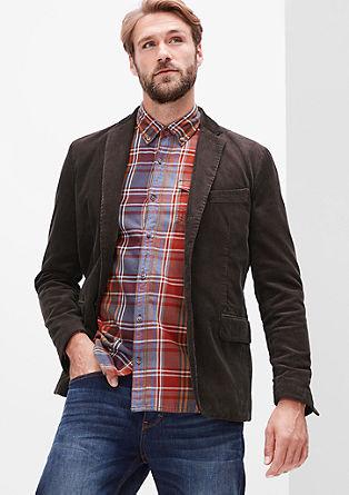 Regular: klasičen suknjič iz rebrastega žameta