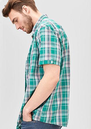Regular: Kurzarmhemd mit Karos