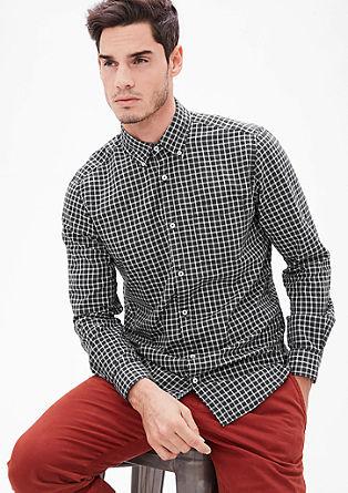 Regular: modieus geruit overhemd