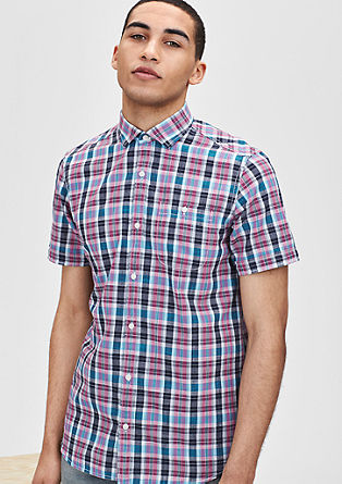 Regular: Modisch kariertes Hemd