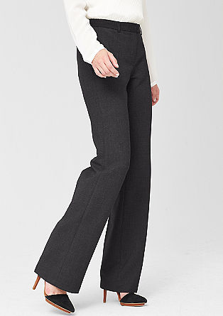 Regular: mottled business trousers from s.Oliver