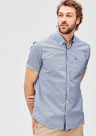 Regular: overhemd met all-over print
