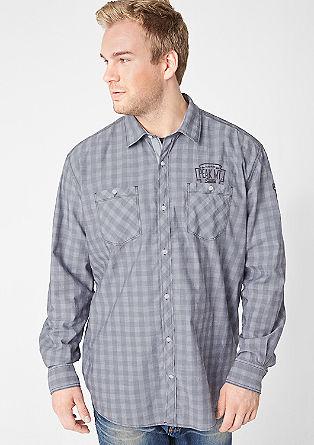 Regular: overhemd met borduursels