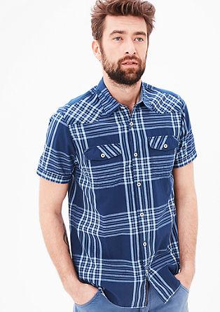Regular: overhemd met denim details