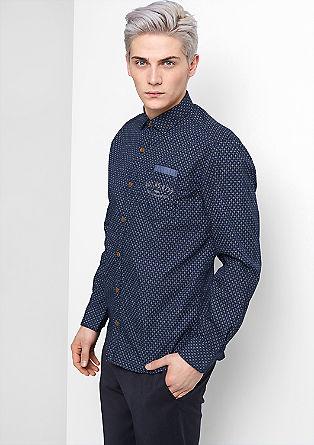 Regular: overhemd met een fijn motief