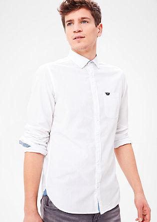 Regular: overhemd met een geweven structuur