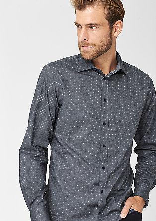 Regular: overhemd met een ingeweven structuur