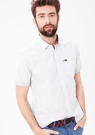 Regular: overhemd met een inside-out effect
