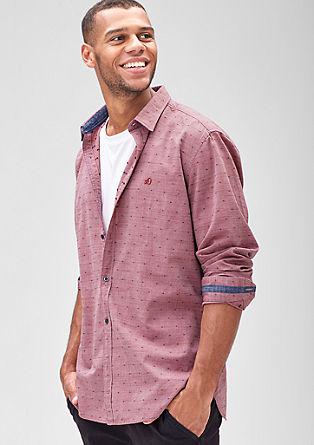 Regular: overhemd met een klein motiefje