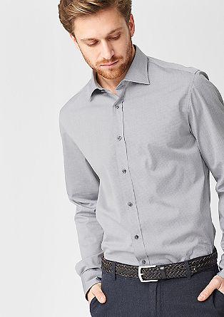 Regular: overhemd met een minimalistisch motief
