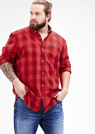Regular: overhemd met grote ruiten