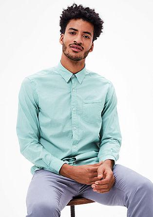 Regular: overhemd met krijtstrepen