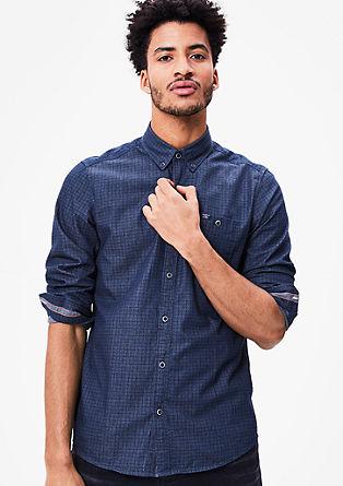 Regular: overhemd met motiefje