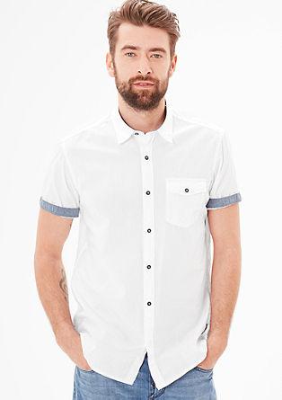 Regular: overhemd met naaldstrepen