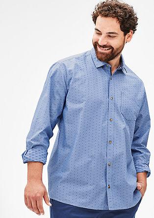 Regular: overhemd met structuurmotief