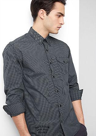 Regular: overhemd met vichyruiten