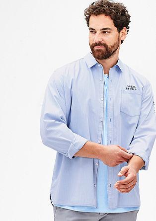 Regular: overhemd met visgraatmotief