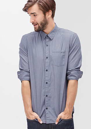 Regular: overhemd van katoen
