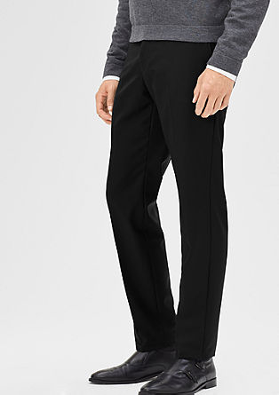 Regular: Pantalon van zuivere scheerwol