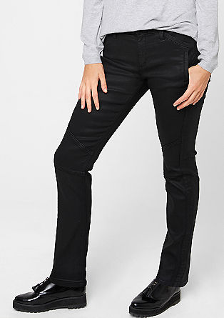 Regular: punk imitation leather jeans from s.Oliver