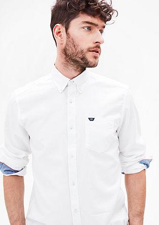 Regular: Schlichtes Baumwollhemd