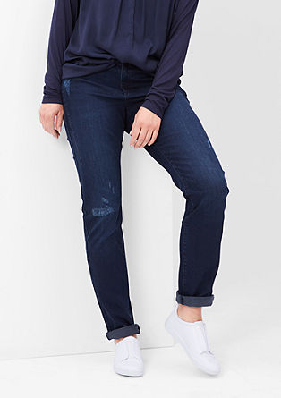 Regular: Schmale Stretch-Denim