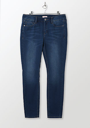Regular: Schmale Stretch-Jeans
