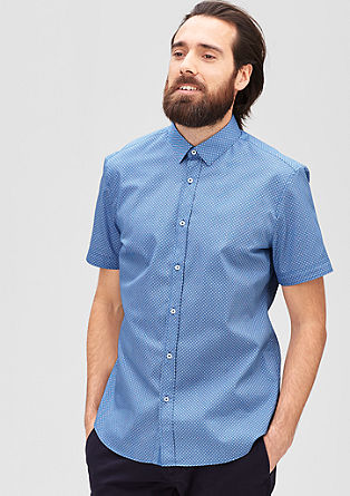 Regular: Shirt with a minimal pattern from s.Oliver