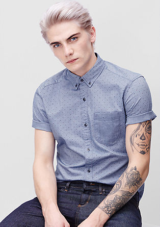 Regular: shirt with a printed pattern from s.Oliver