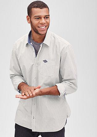 Regular: shirt with denim details from s.Oliver