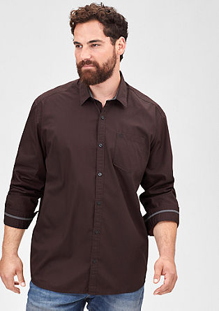 Regular: Shirt with honeycomb pattern from s.Oliver