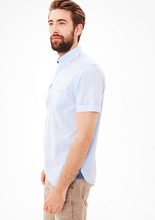 Regular: sportief ruitjeshemd