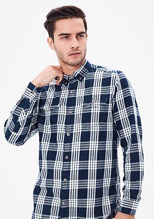 Regular: srajca z detajli iz jeansa
