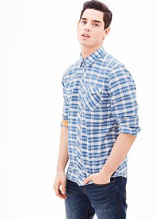 Regular: srajca z dolgimi rokavi Vichy